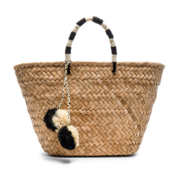 2018 Simple handwoven  straw bags pom pom bulk cheap large totes canada
