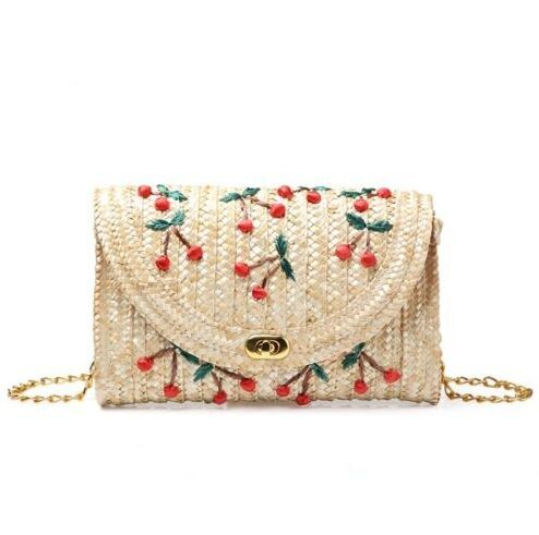 2018 Summer Straw Envelope bags Fruit Cherry for sale 21