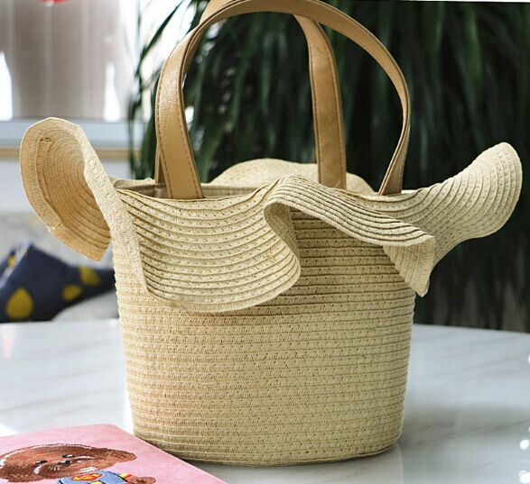 New fashion Belle Tote straw bags circular